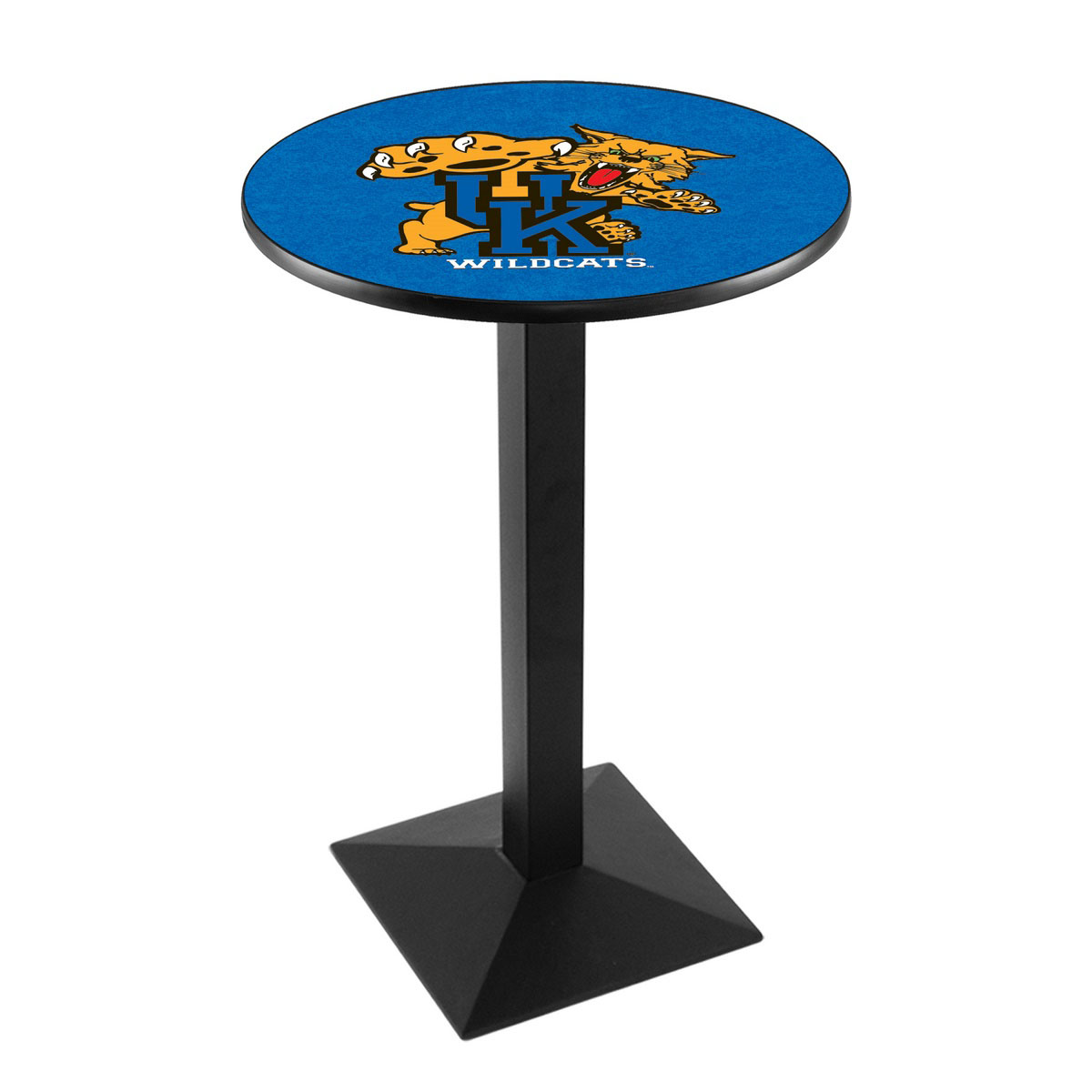 Superb University Kentucky Cat Logo Pub Bar Table Square Stand Product Photo