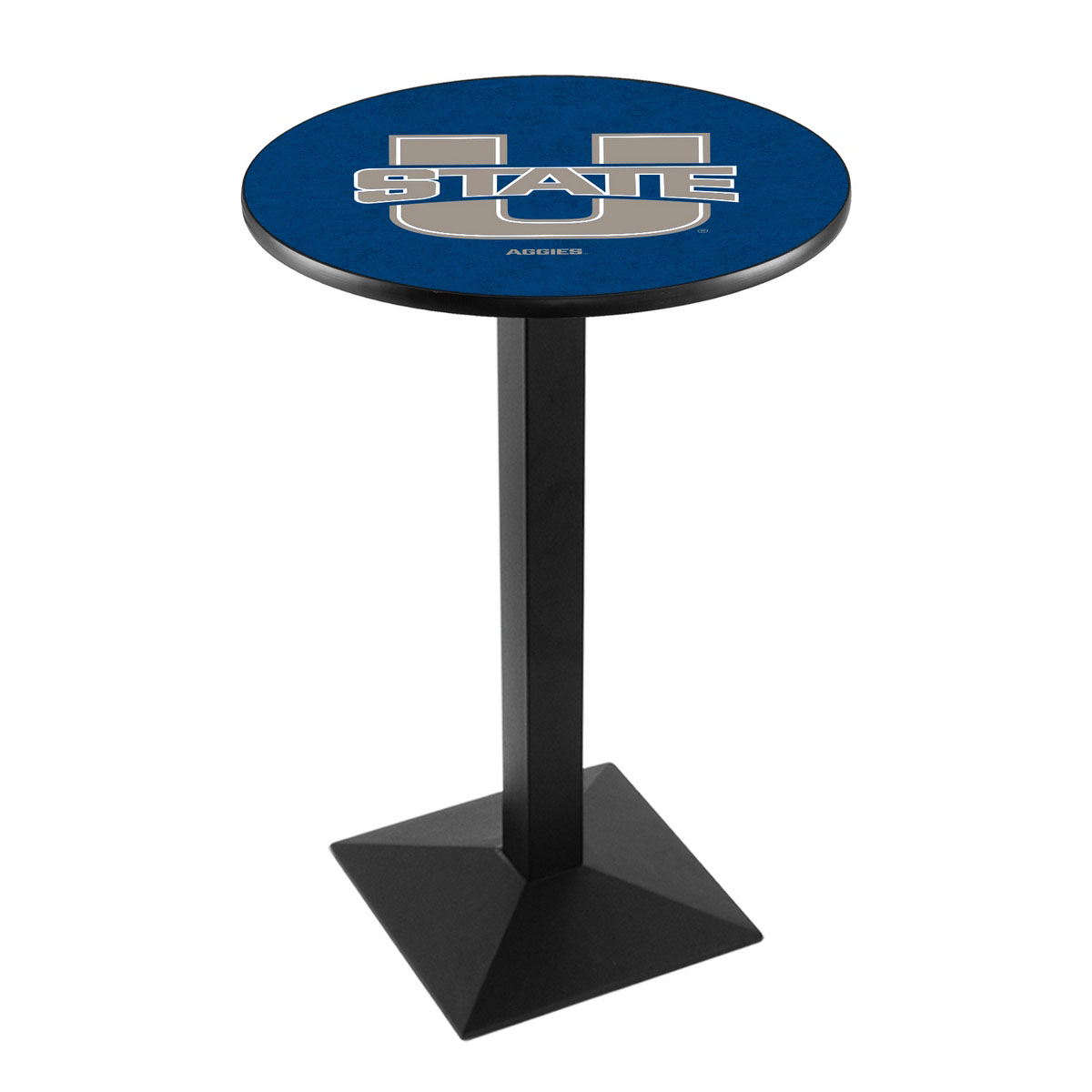 Design Utah State University Logo Pub Bar Table Square Stand Product Photo