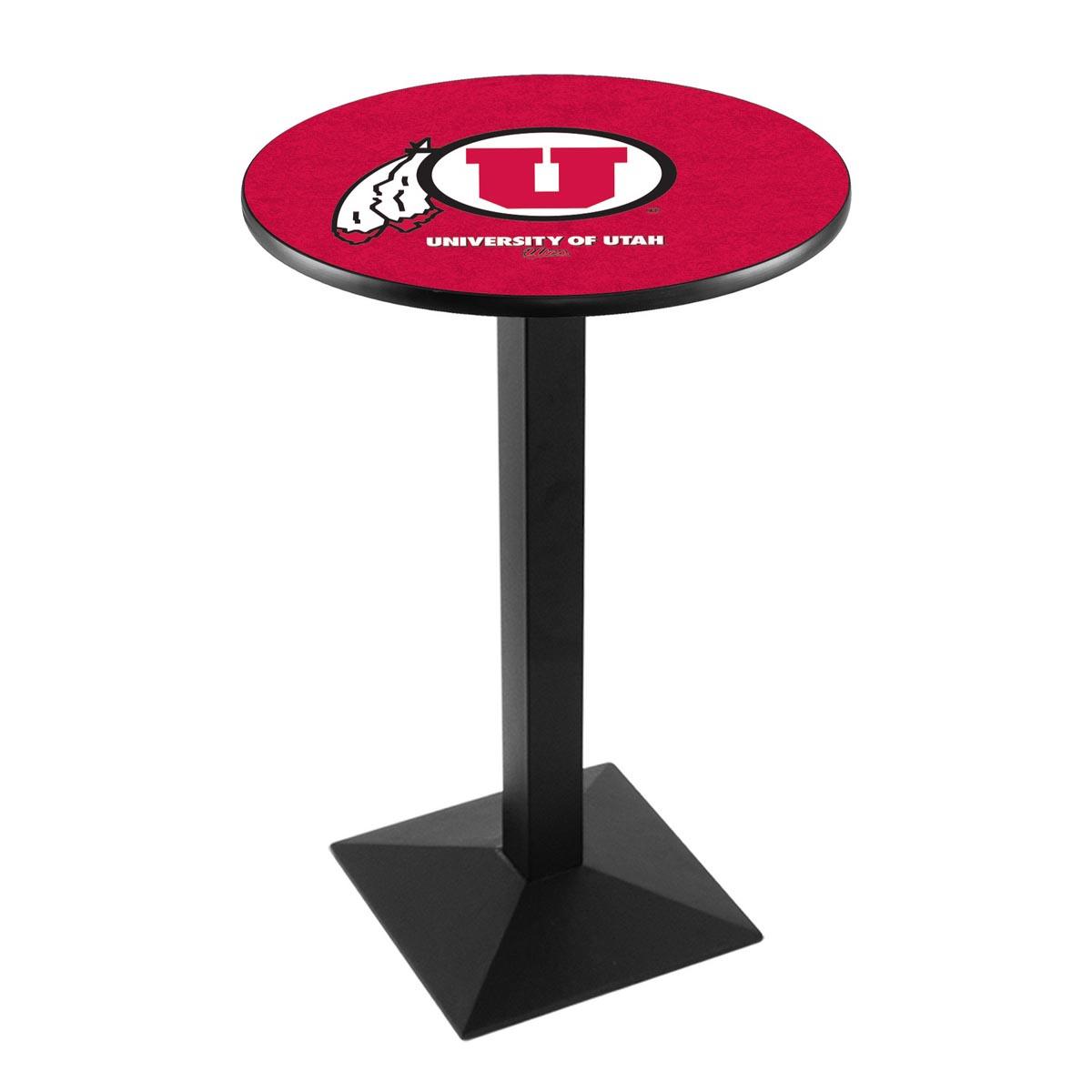Remarkable University Utah Logo Pub Bar Table Square Stand Product Photo