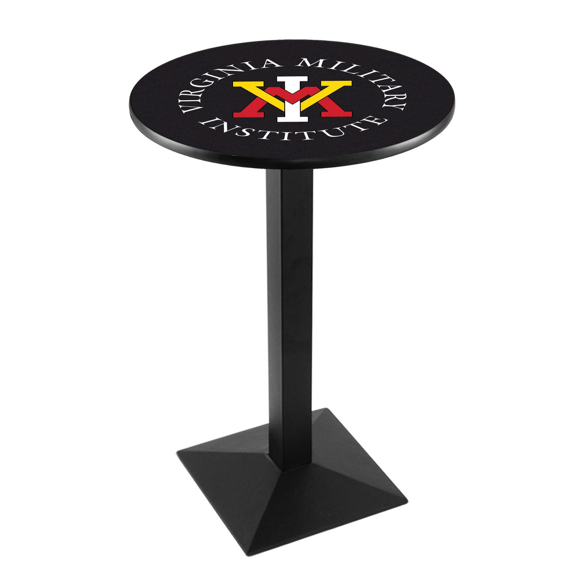 Trustworthy Virginia Military Institute Logo Pub Bar Table Square Stand Product Photo