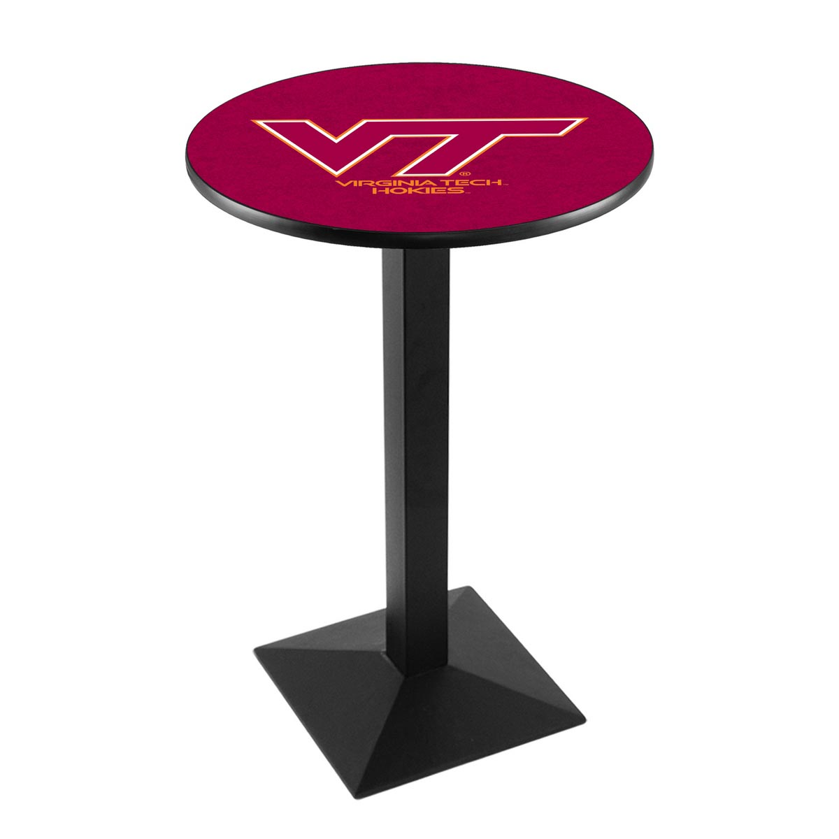 Impressive Virginia Tech University Logo Pub Bar Table Square Stand 4 392