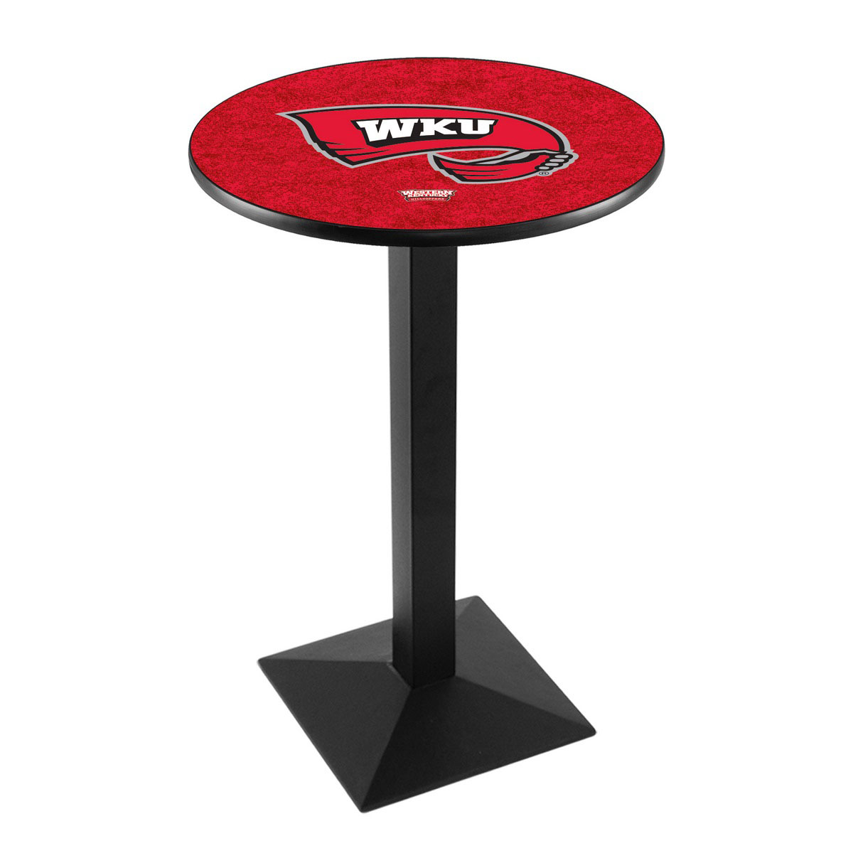 View Western Kentucky University Logo Pub Bar Table Square Stand Product Photo