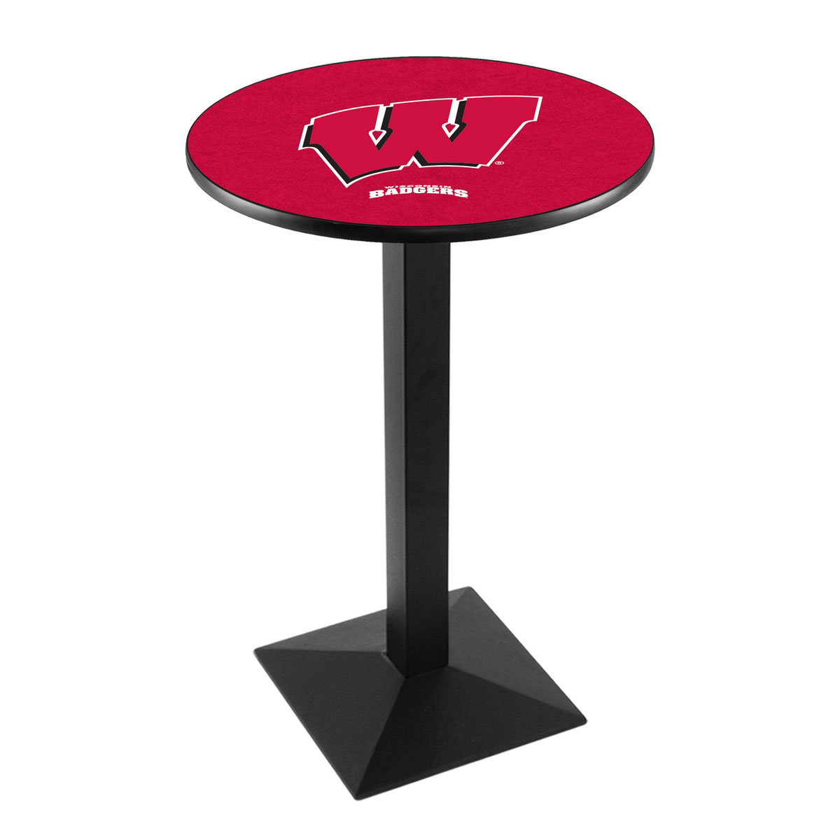 High-class University Wisconsin Logo Pub Bar Table Square Stand Product Photo