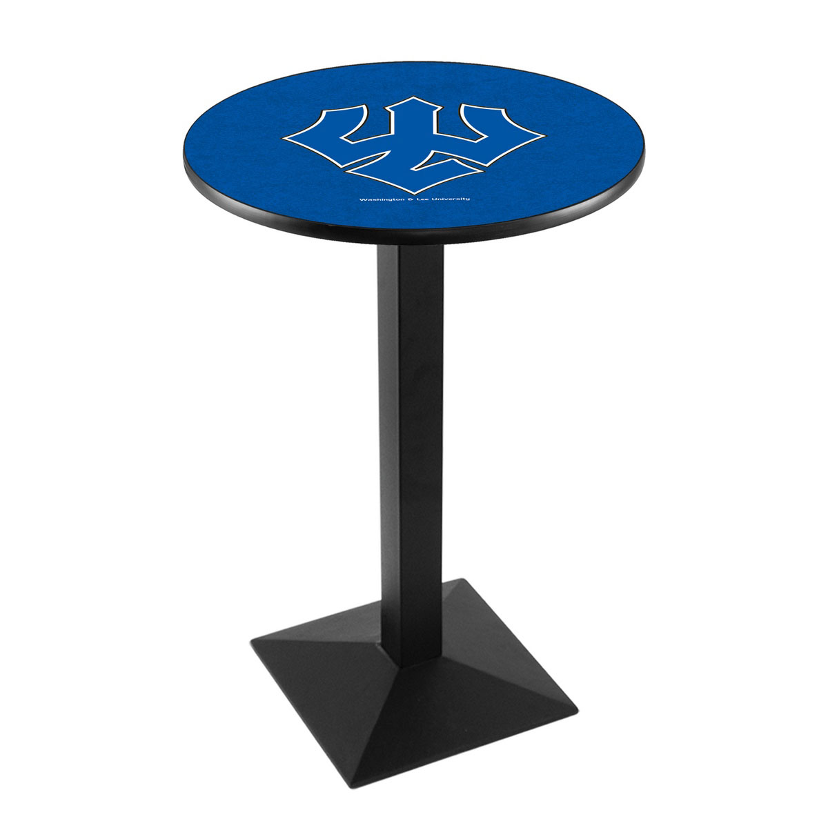Longstanding Washington Lee University Logo Pub Bar Table Square Stand Product Photo