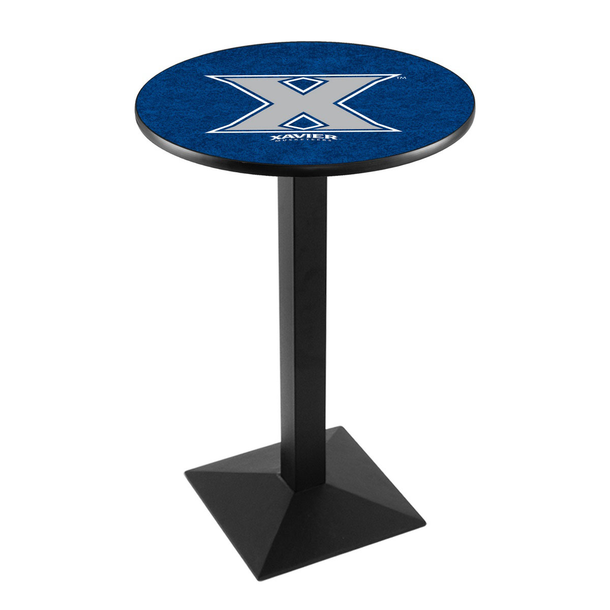 User friendly Xavier Logo Pub Bar Table Square Stand Product Photo