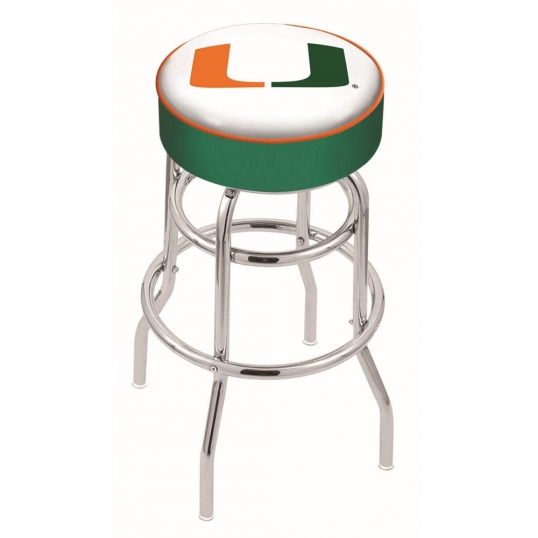 Holland Bar Stool Co 25 Inch Miami Chrome 2 Ring Base Swivel Bar