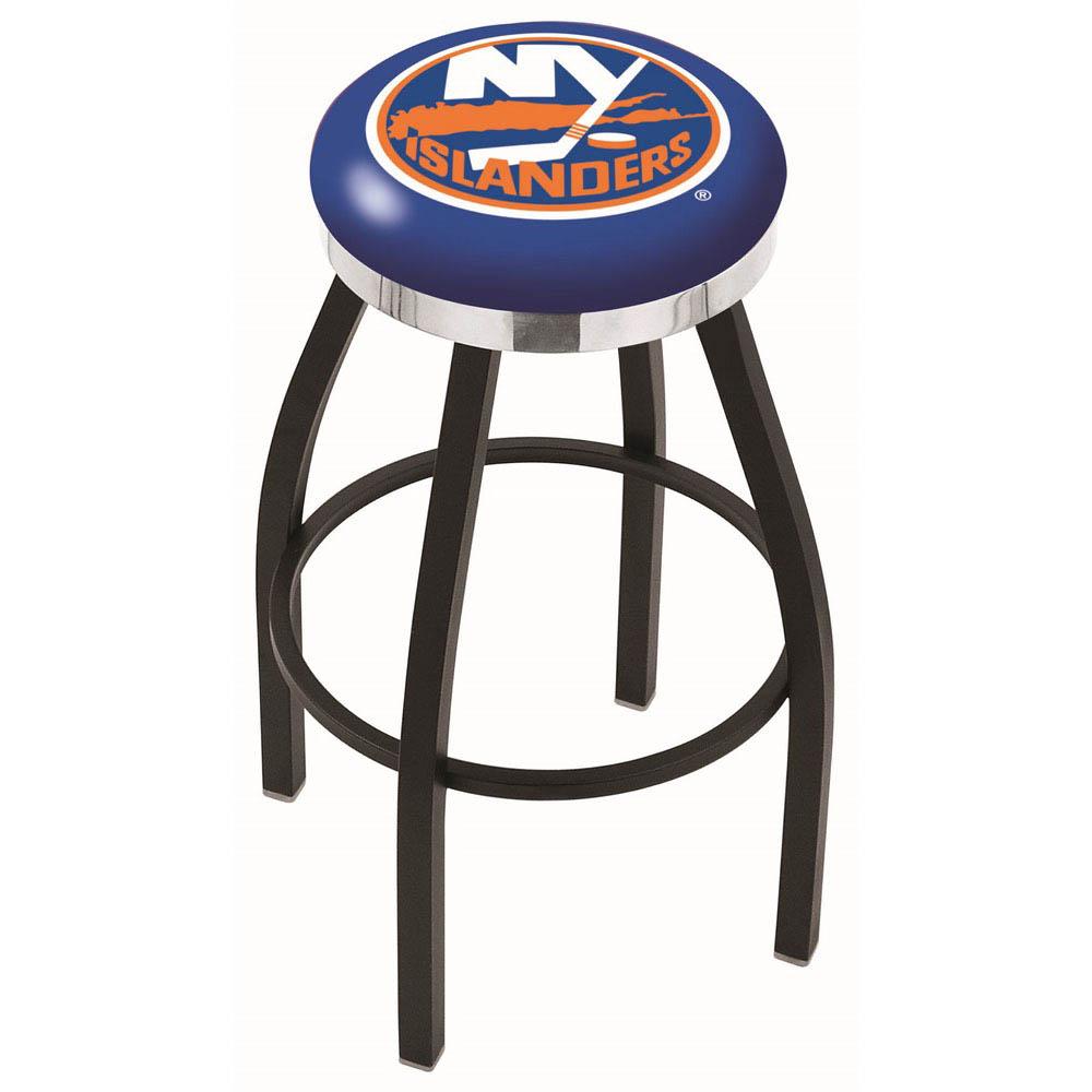 New York Islanders 25 Inch L8B2C Black Bar Stool L8B2C25NYIsln