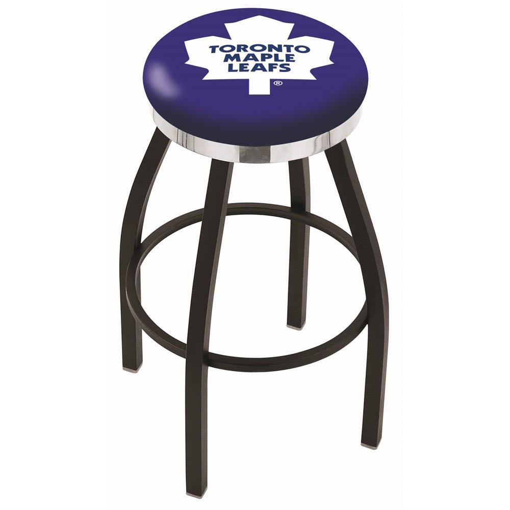 Toronto Maple Leafs 25 Inch L8B2C Black Bar Stool L8B2C25TorMpl
