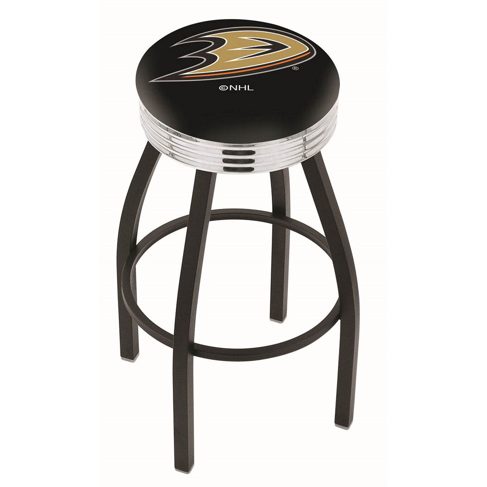 Anaheim Ducks 25 Inch L8B3C Black Bar Stool L8B3C25AnaDks
