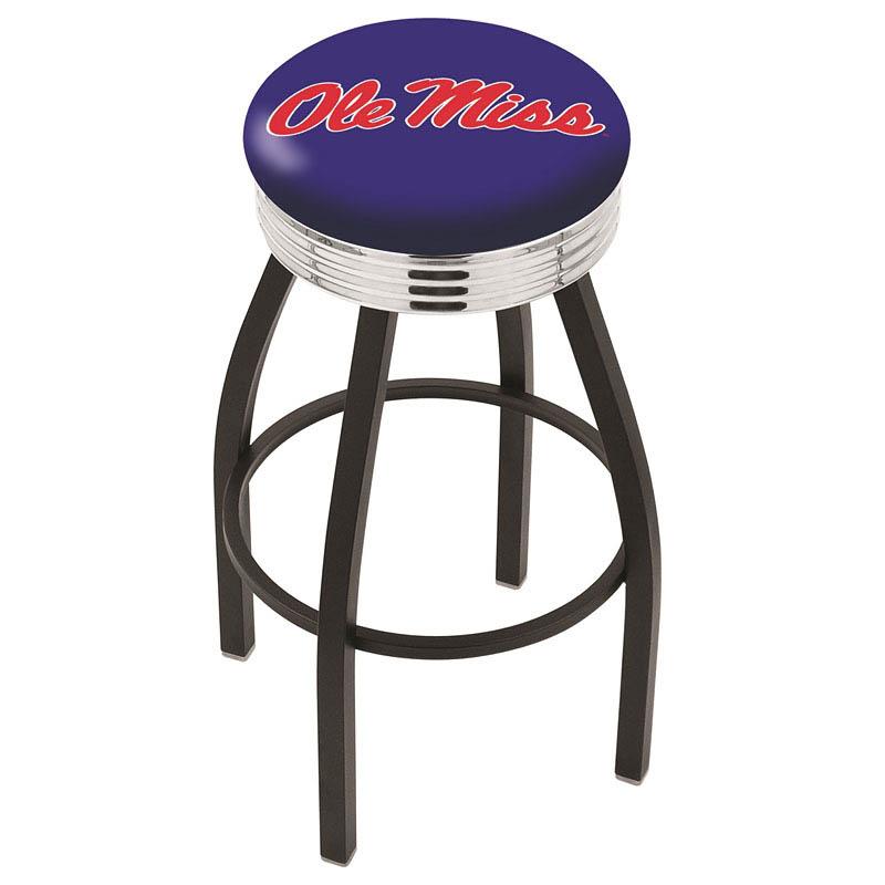 Ole' Miss Bar Stool-l8b3c - L8b3c25mssppu - Chairs Table College Stool L8B3C25MSSPPU