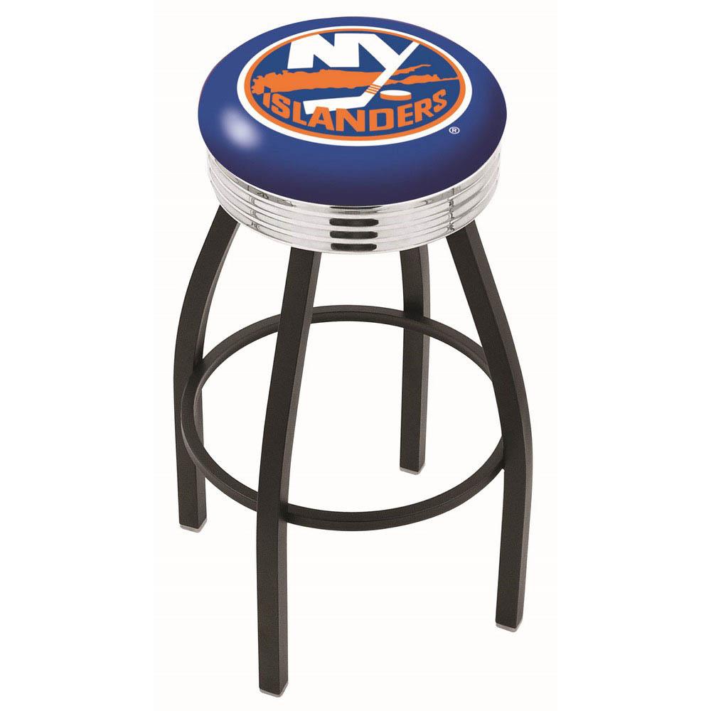 New York Islanders 25 Inch L8B3C Black Bar Stool L8B3C25NYIsln