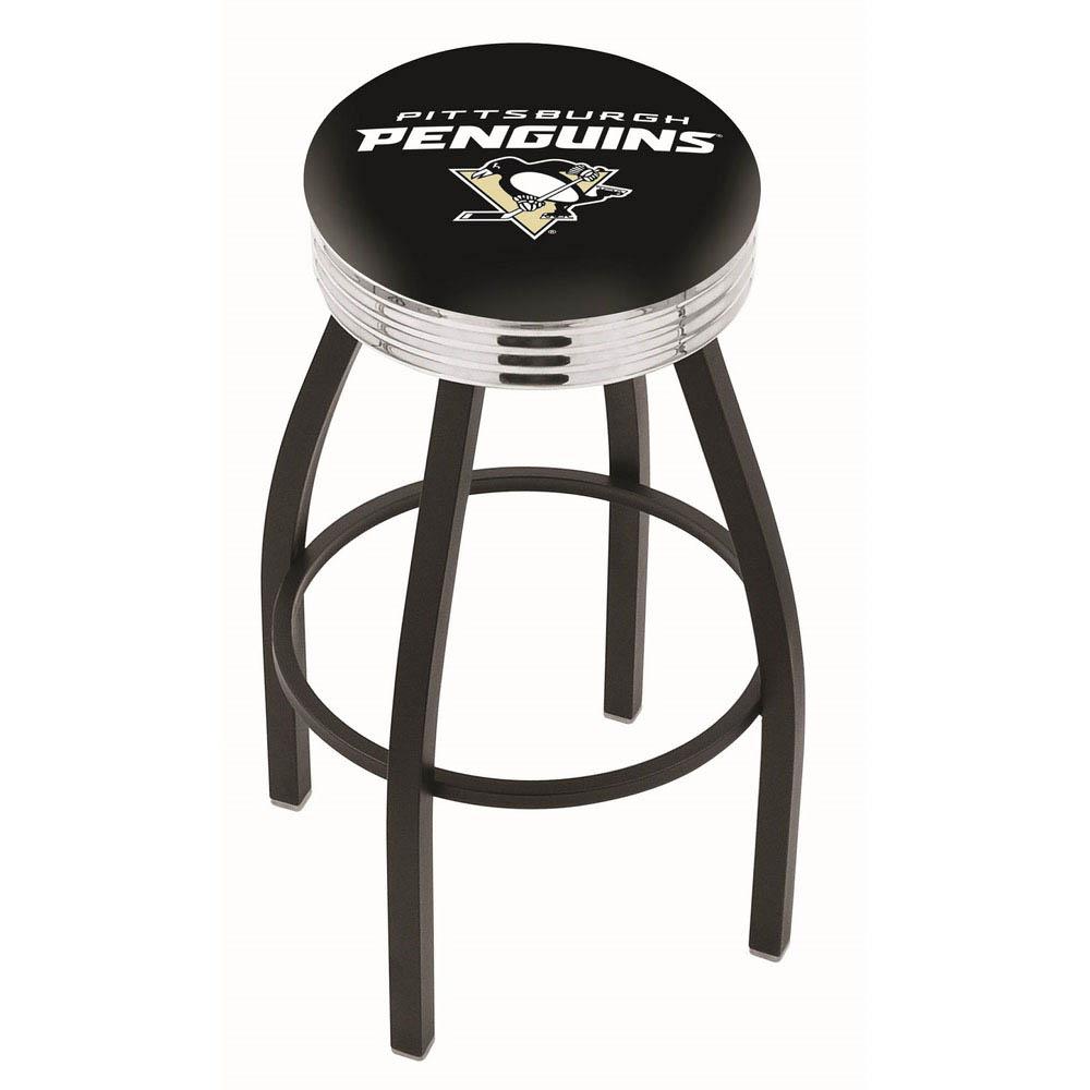 Pittsburgh Penguins 25 Inch L8B3C Black Bar Stool L8B3C25PitPen