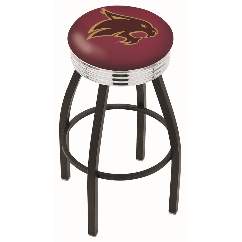 Swivel | Accent | Chrome | Texas | Stool | State | Black | Bar