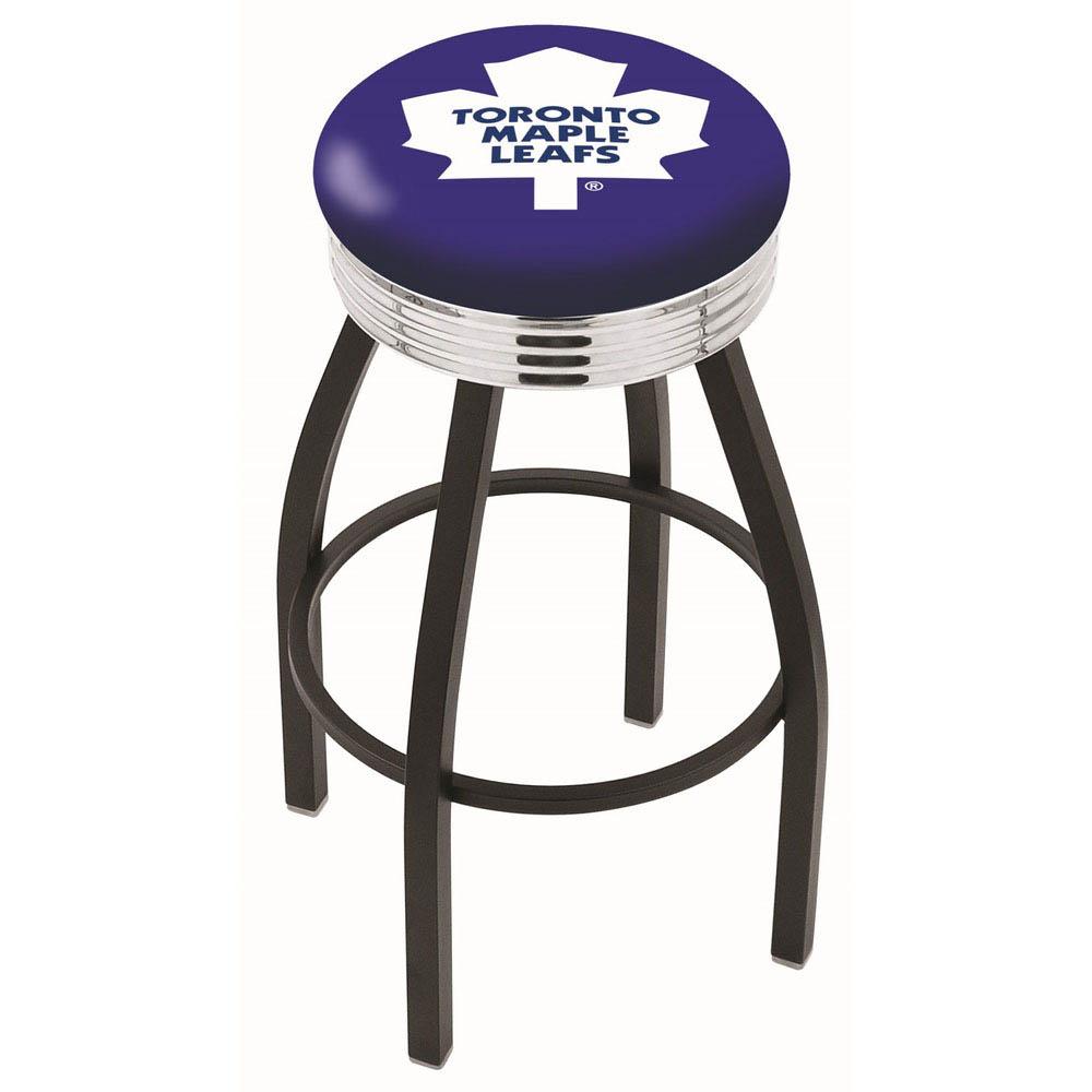 Toronto Maple Leafs 25 Inch L8B3C Black Bar Stool L8B3C25TorMpl