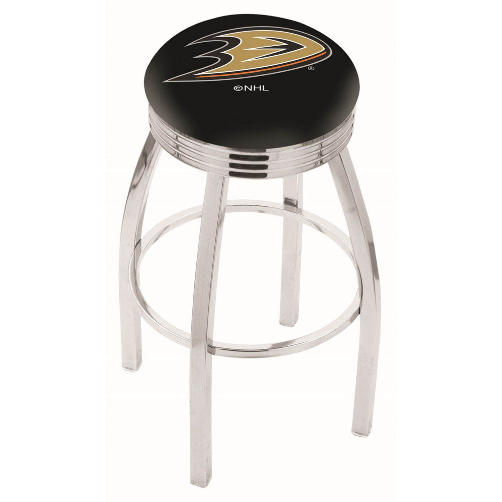 Anaheim Ducks 25 Inch L8C3C Chrome Bar Stool L8C3C25AnaDks