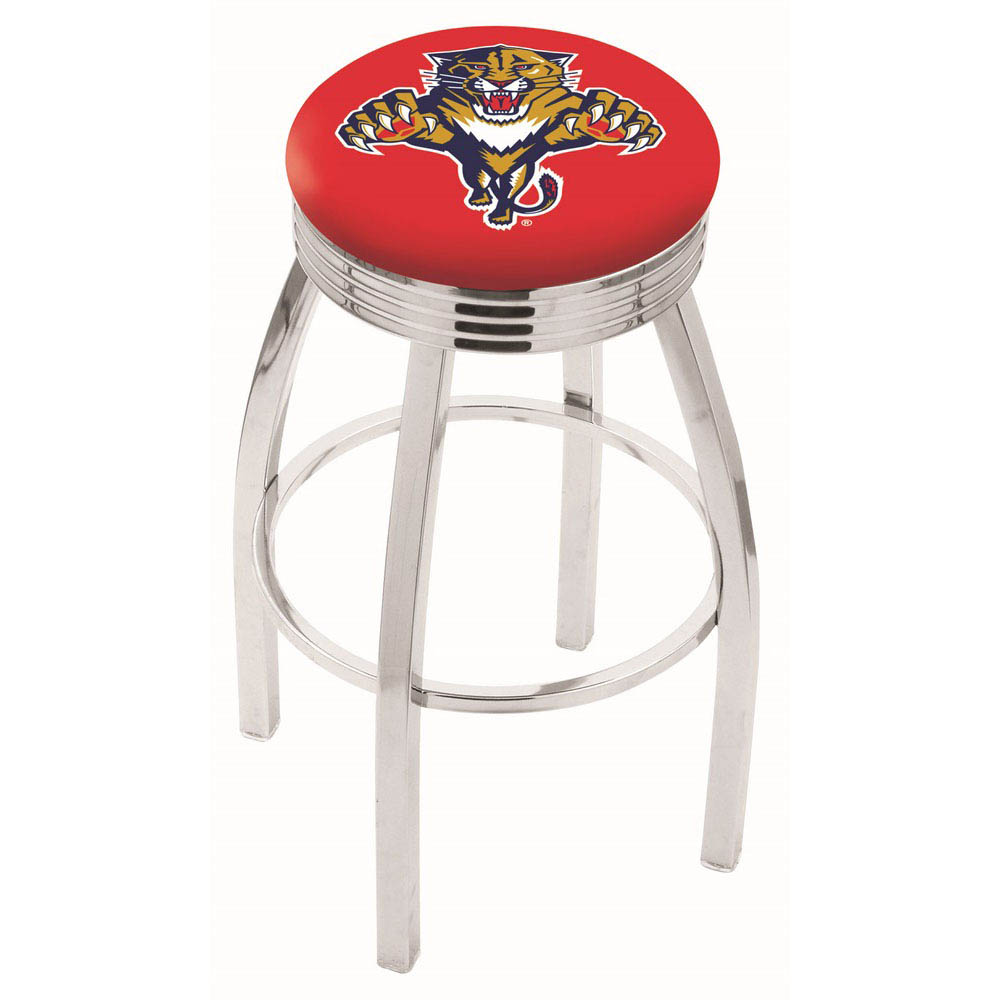 Florida Panthers 25 Inch L8C3C Chrome Bar Stool L8C3C25FlaPan