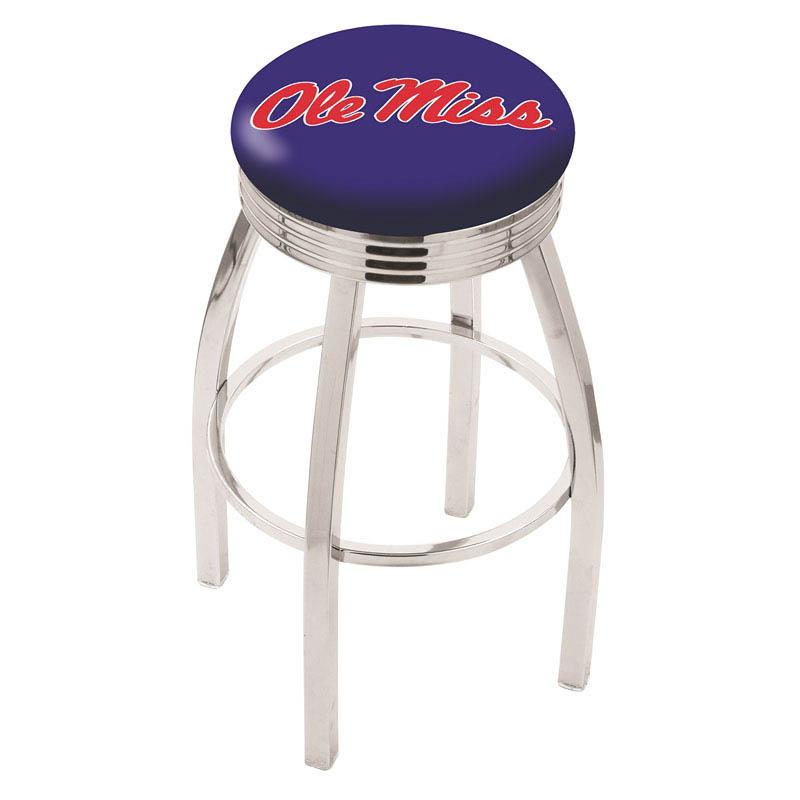 Ole' Miss Bar Stool-l8c3c - L8c3c25mssppu - Chairs Table College Stool L8C3C25MSSPPU