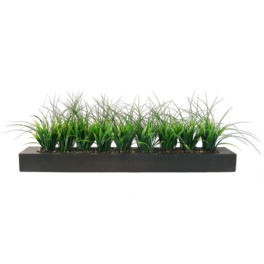 13Hx9Wx36L inch Laura Ashley Artificial Grass in Contemporary Long