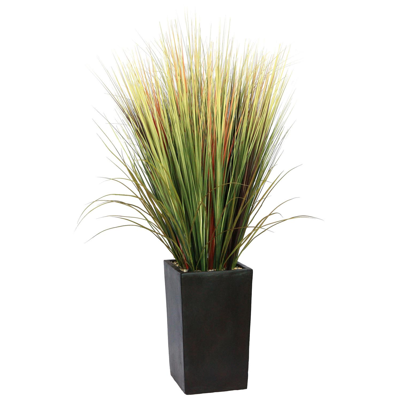 Laura Ashley 5 Foot Grass Floor Plant In Contemporary Planter