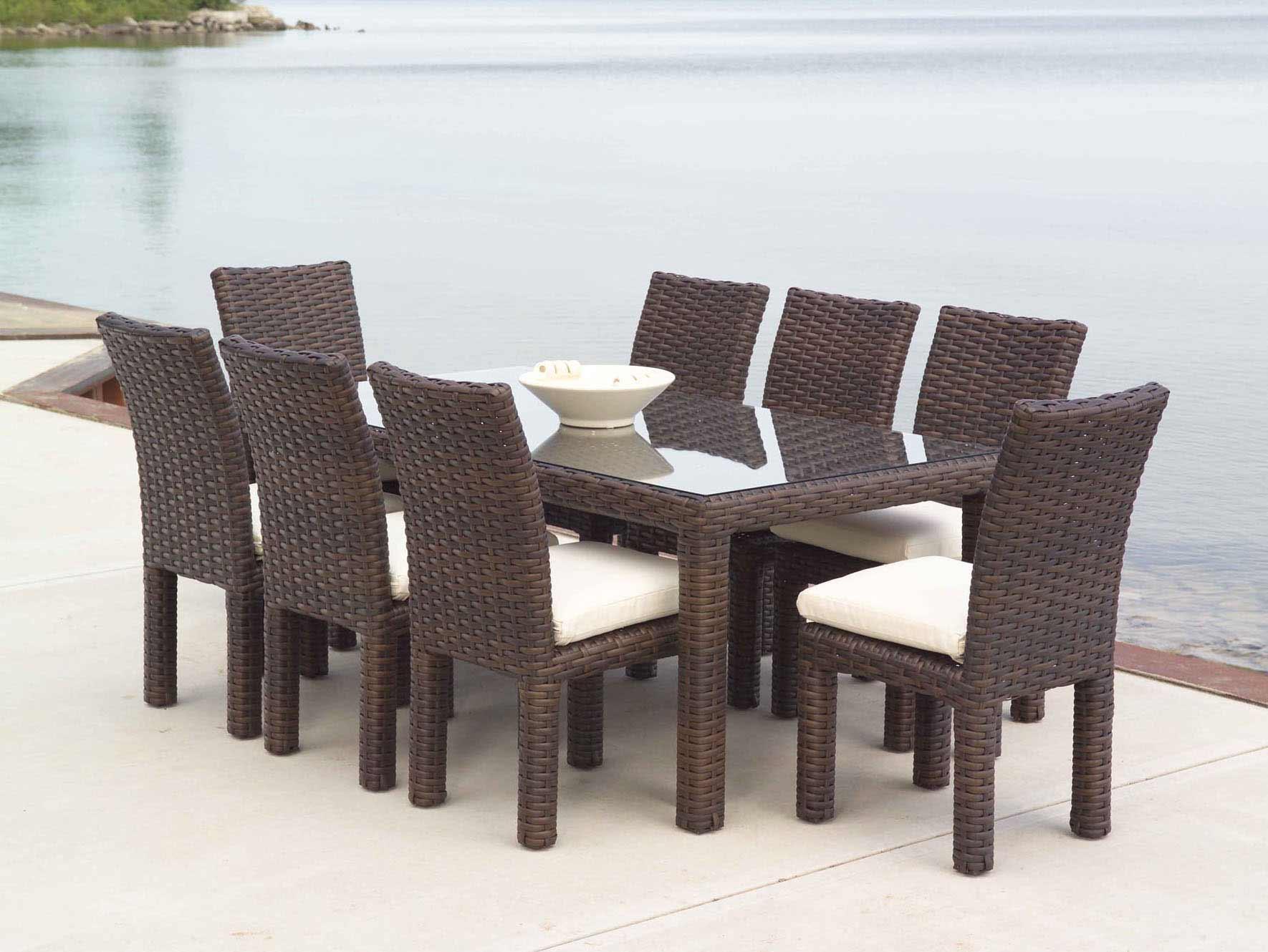 Lloyd Flanders Contempo Outdoor Wicker Rectangular Table