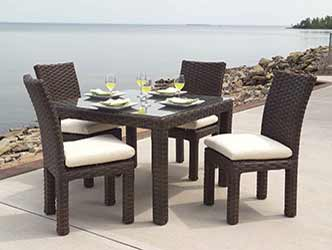 Lloyd flanders contempo outdoor wicker rectangular table dining set by lloyd flanders best - Contempo wicker outdoor furniture ...