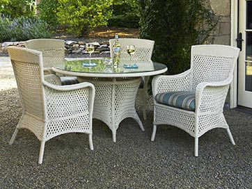 wicker outdoor patio dining lloyd flanders grand traverse wicker
