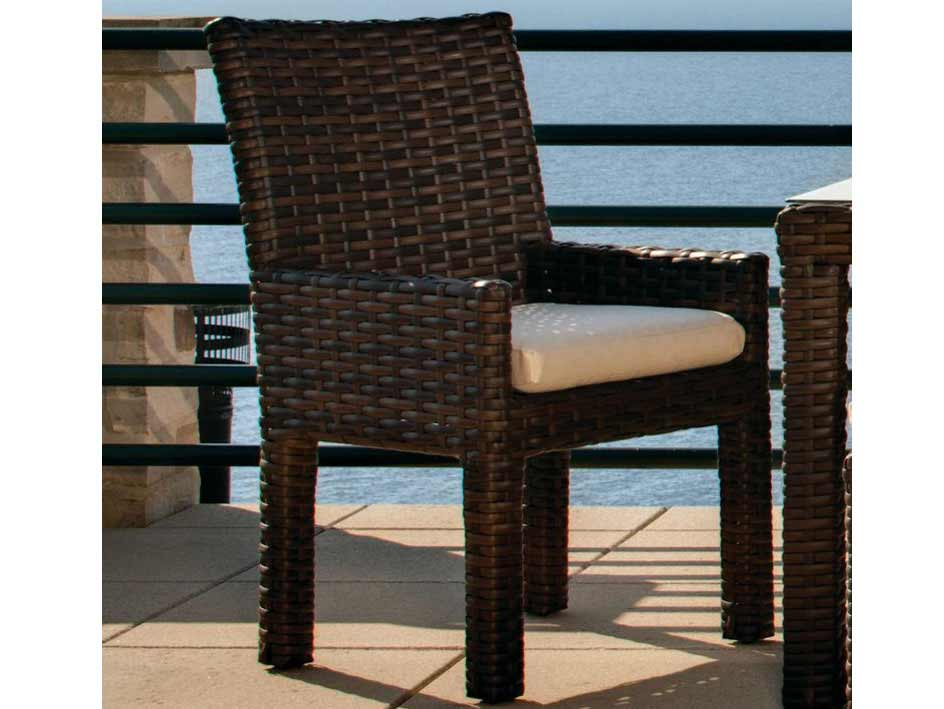 Choose Contempo Wicker Patio Arm Dining Chair Product Photo