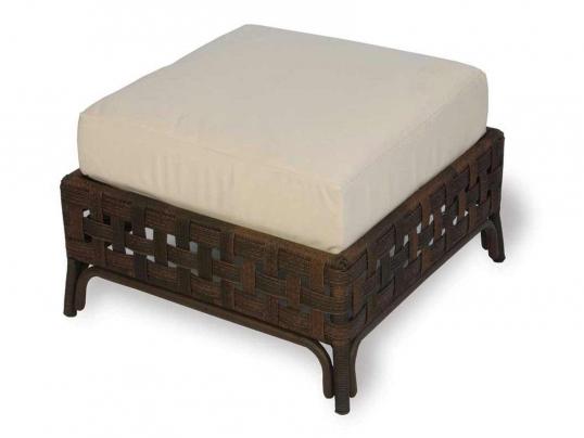 Slim Logo; Haven Wicker Cushion Patio Ottoman