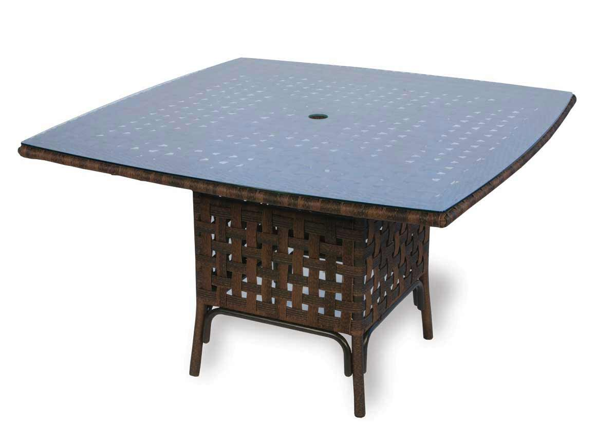 lloyd flanders haven wicker patio 48 inch square dining table 43048. Black Bedroom Furniture Sets. Home Design Ideas