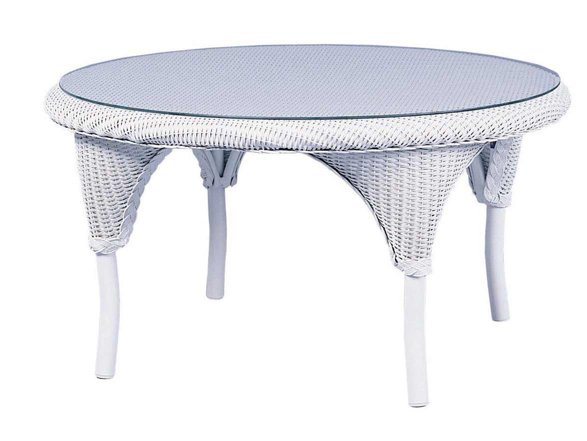 Saddleback round cocktail table for 34 inch round coffee table