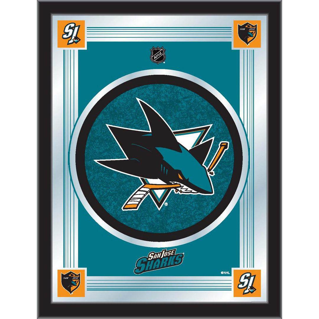 San Jose Sharks Logo Mirror MLogoSJShar