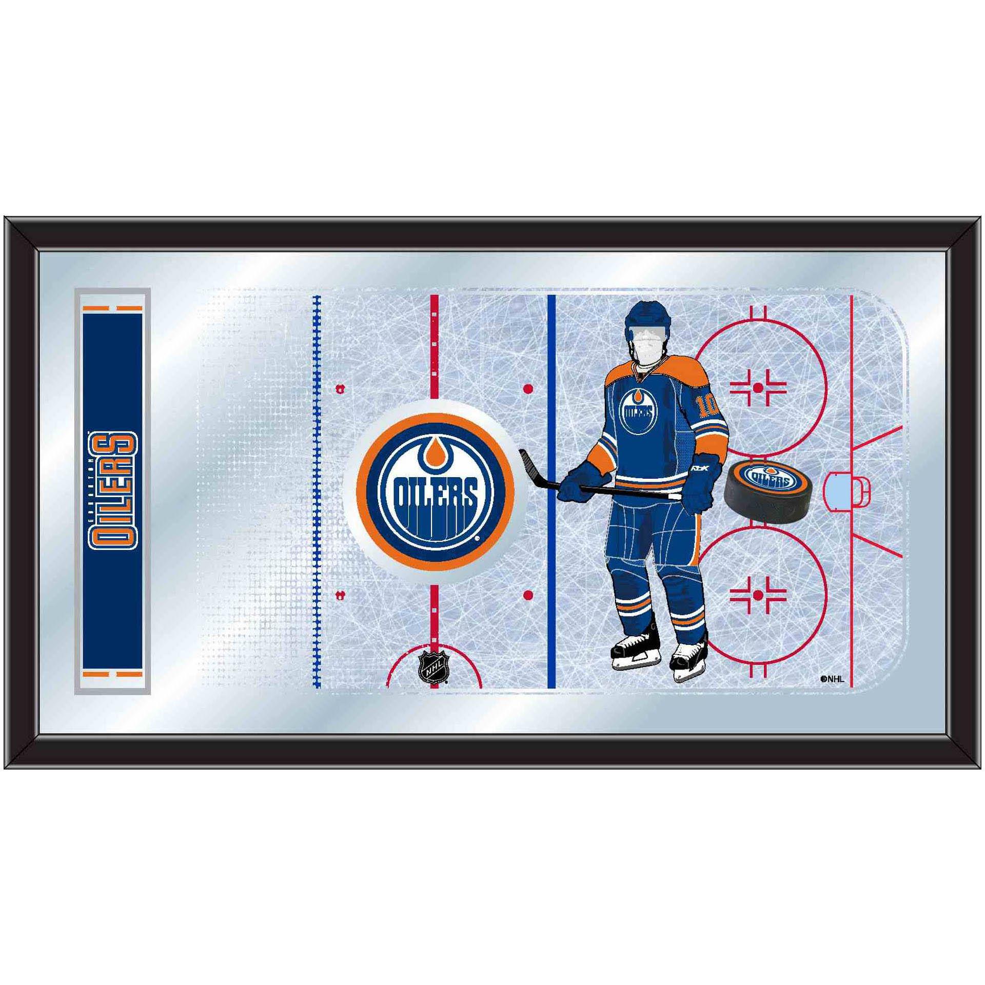 Edmonton Oilers Hockey Rink Mirror MRinkEdmOil