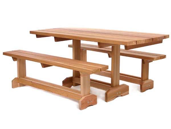 Cedar 3 Pc. Picnic Table Set (8 Person)