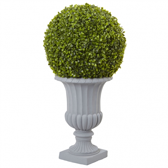 Nearly Natural 30 Inch Boxwood Topiary In Decorative Urn Uv