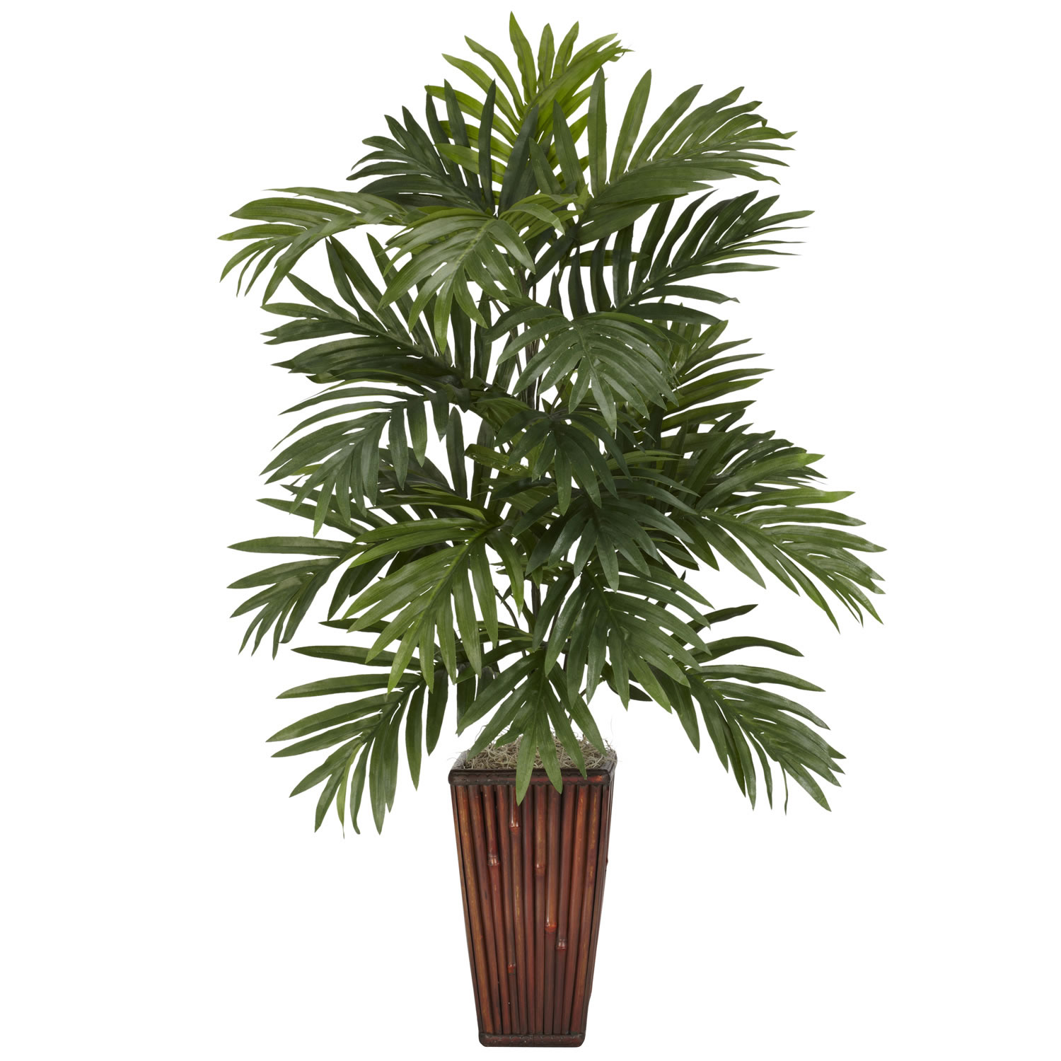 32 Inch Areca Palm In Bamboo Vase 6675
