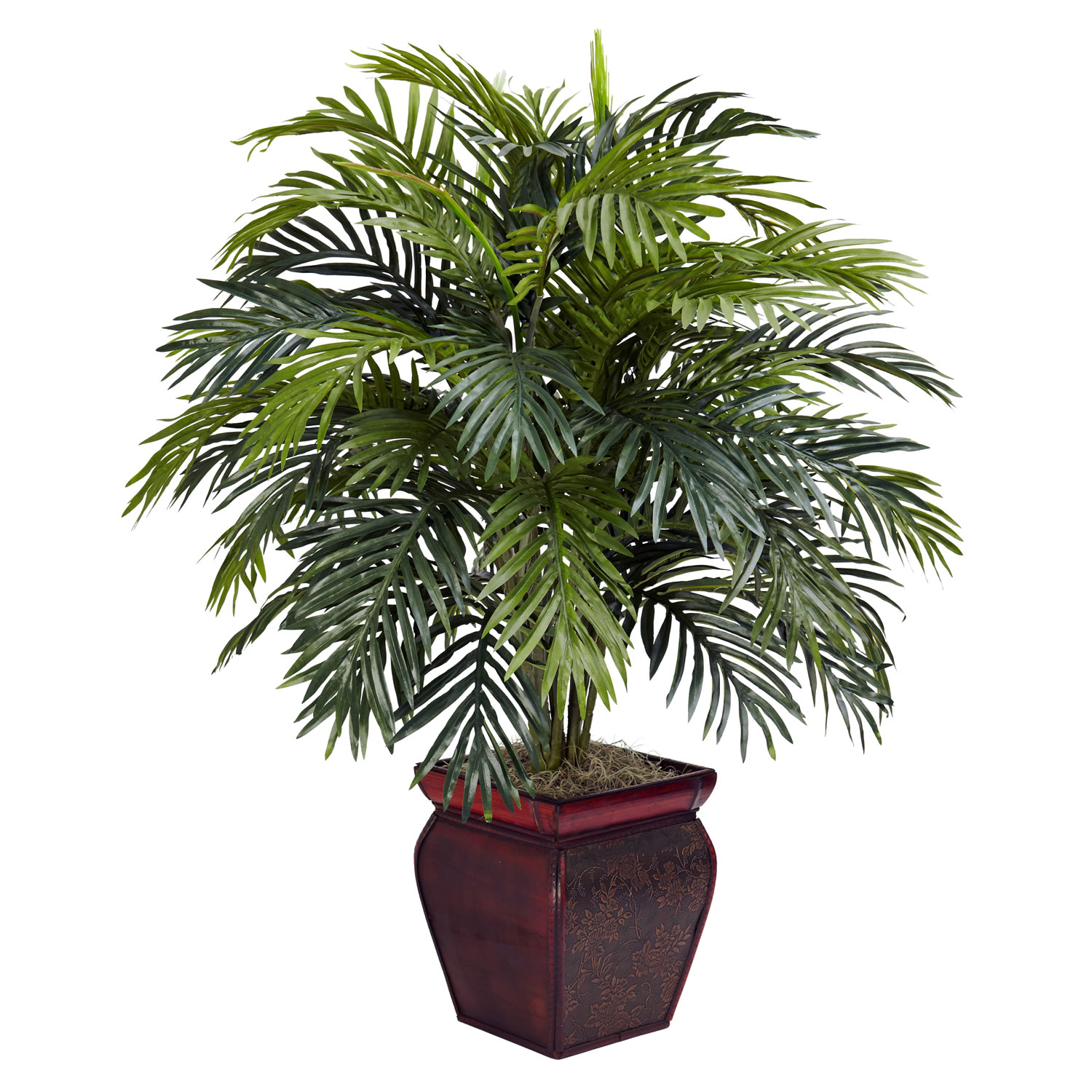 38 inch artificial areca plant in decorative planter 6686 for Artificial plants for decoration