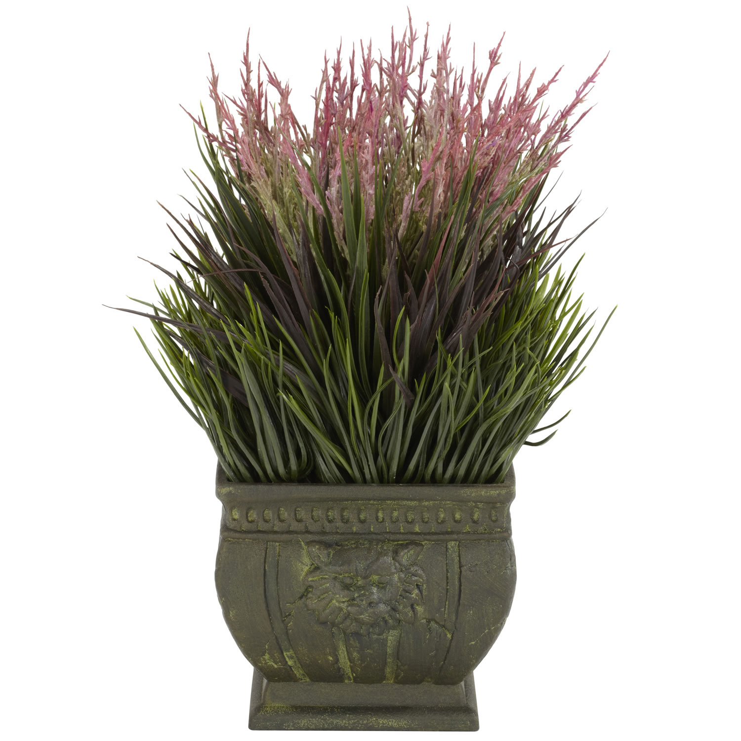 13 Inch Mixed Grass In Decorative Planter 4124