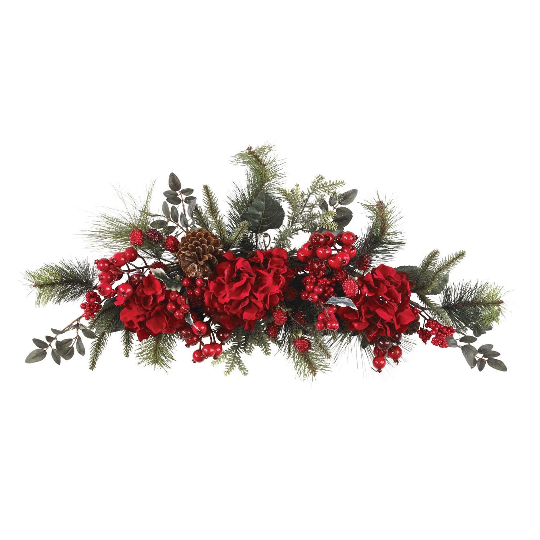 30 inch Holiday Hydrangea Swag 4679