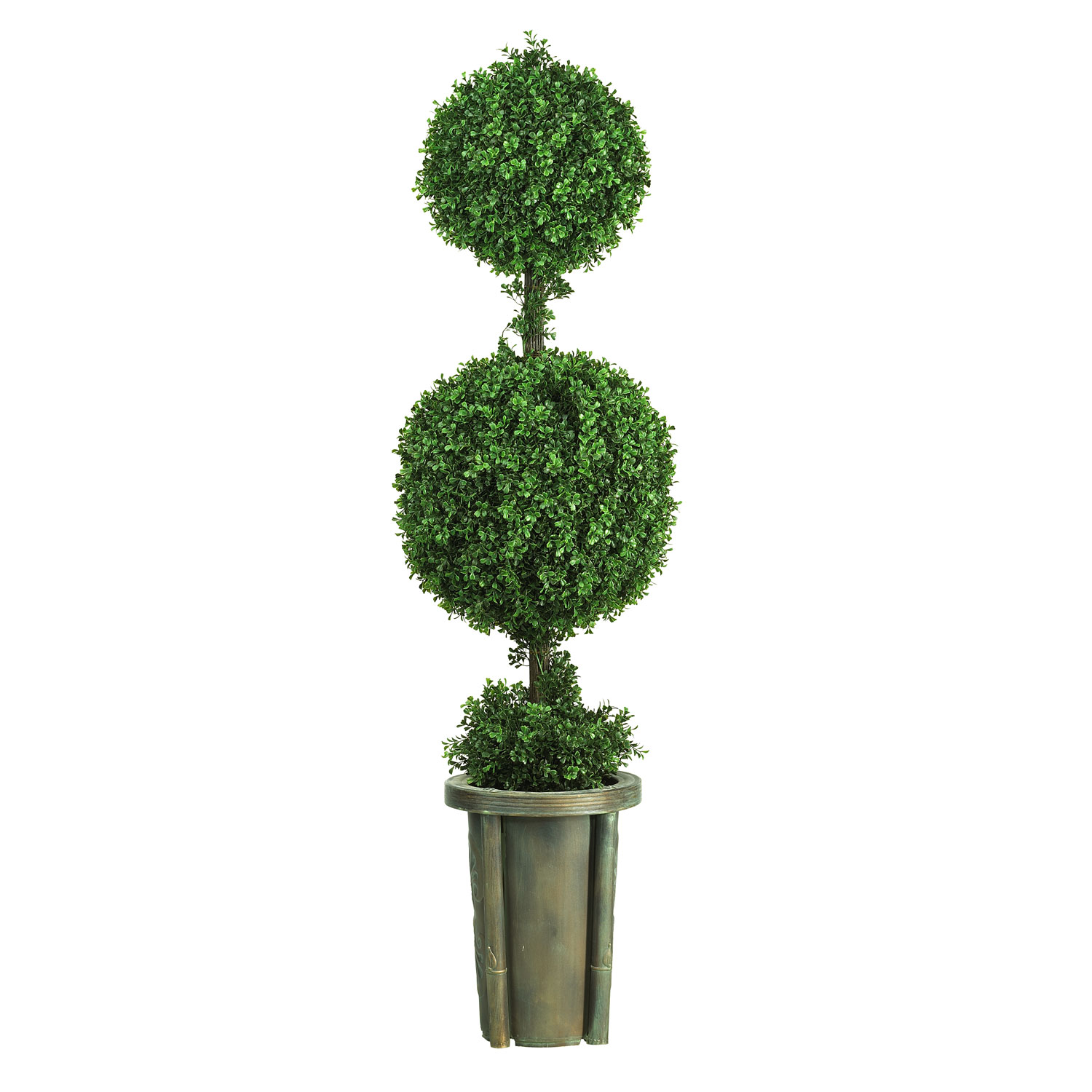 5 foot Double Ball Leucodendron Topiary in Decorative Vase | 5221