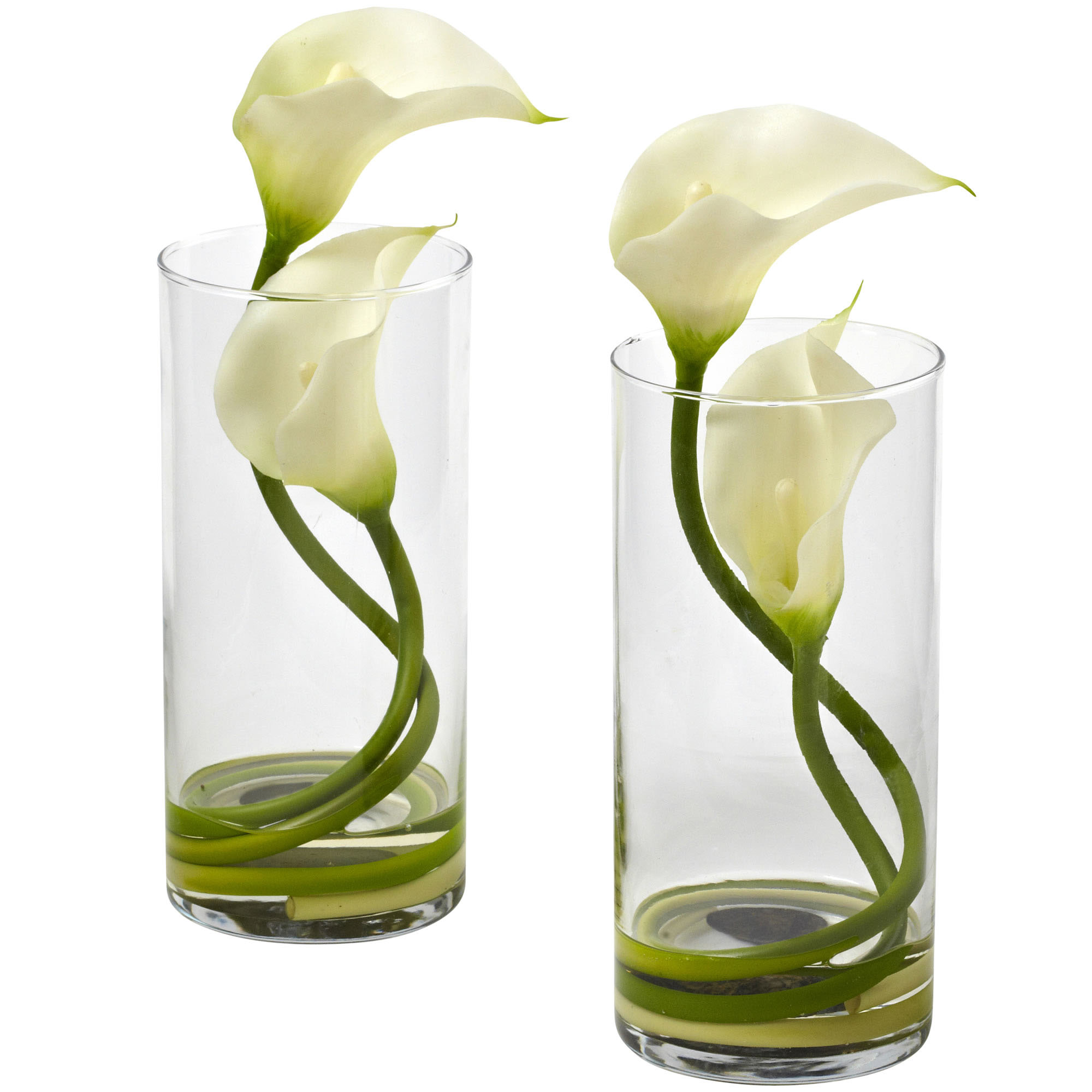 105 inch silk double calla lily in vase set of 2 1390 closeup image reviewsmspy