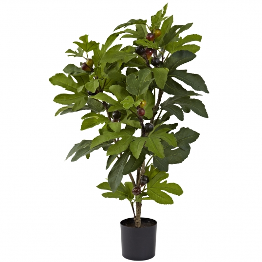 32 inch Indoor Silk Fig Tree (42 Leaves & 15 Figs): Potted | 5440
