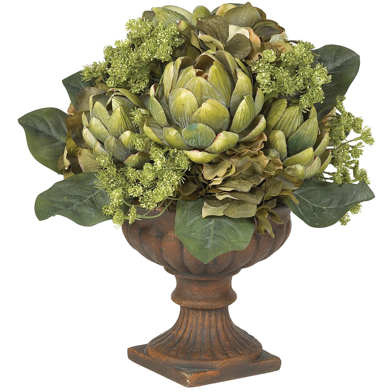 Silk artichoke centerpiece