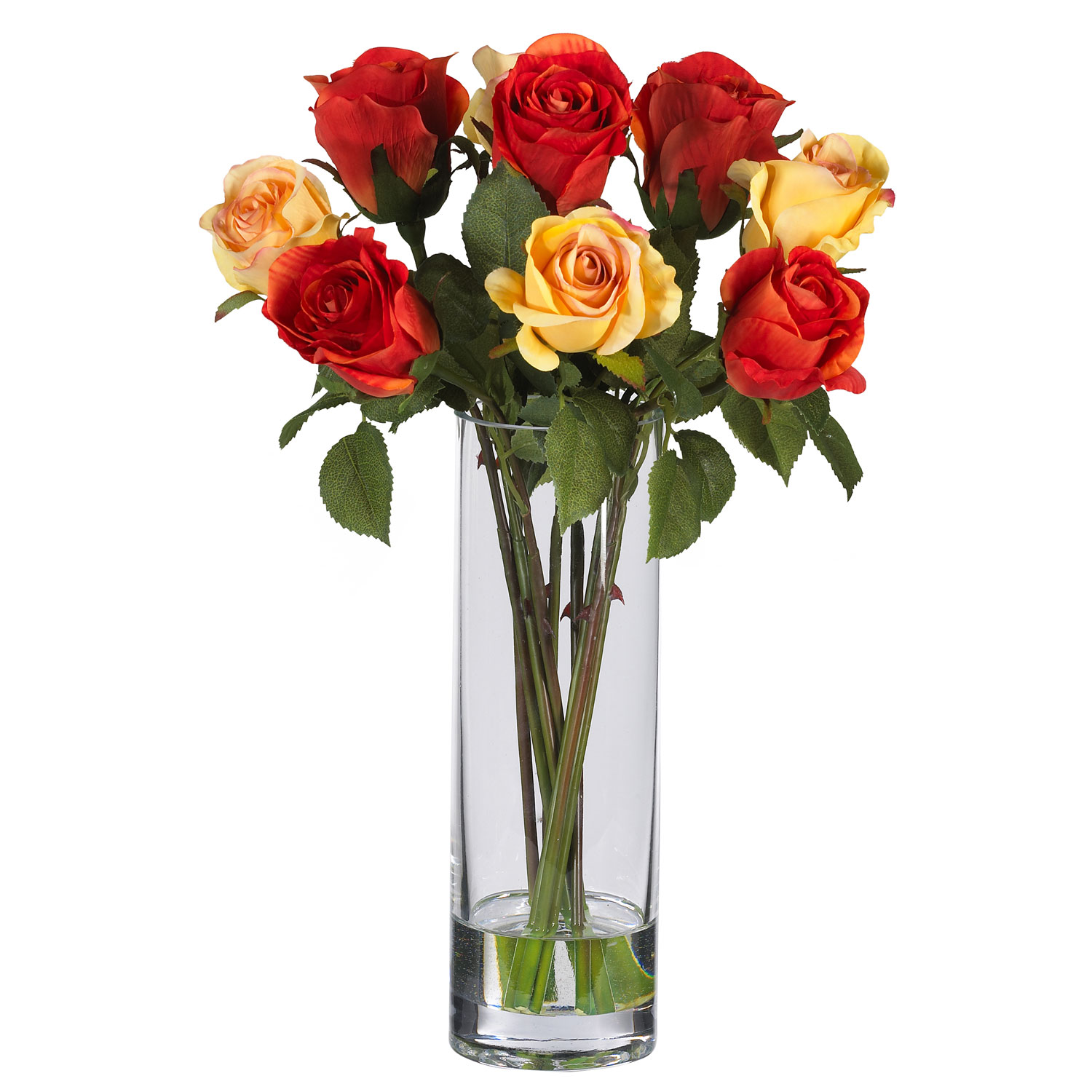Silk roses in glass vase 4740 closeup image reviewsmspy