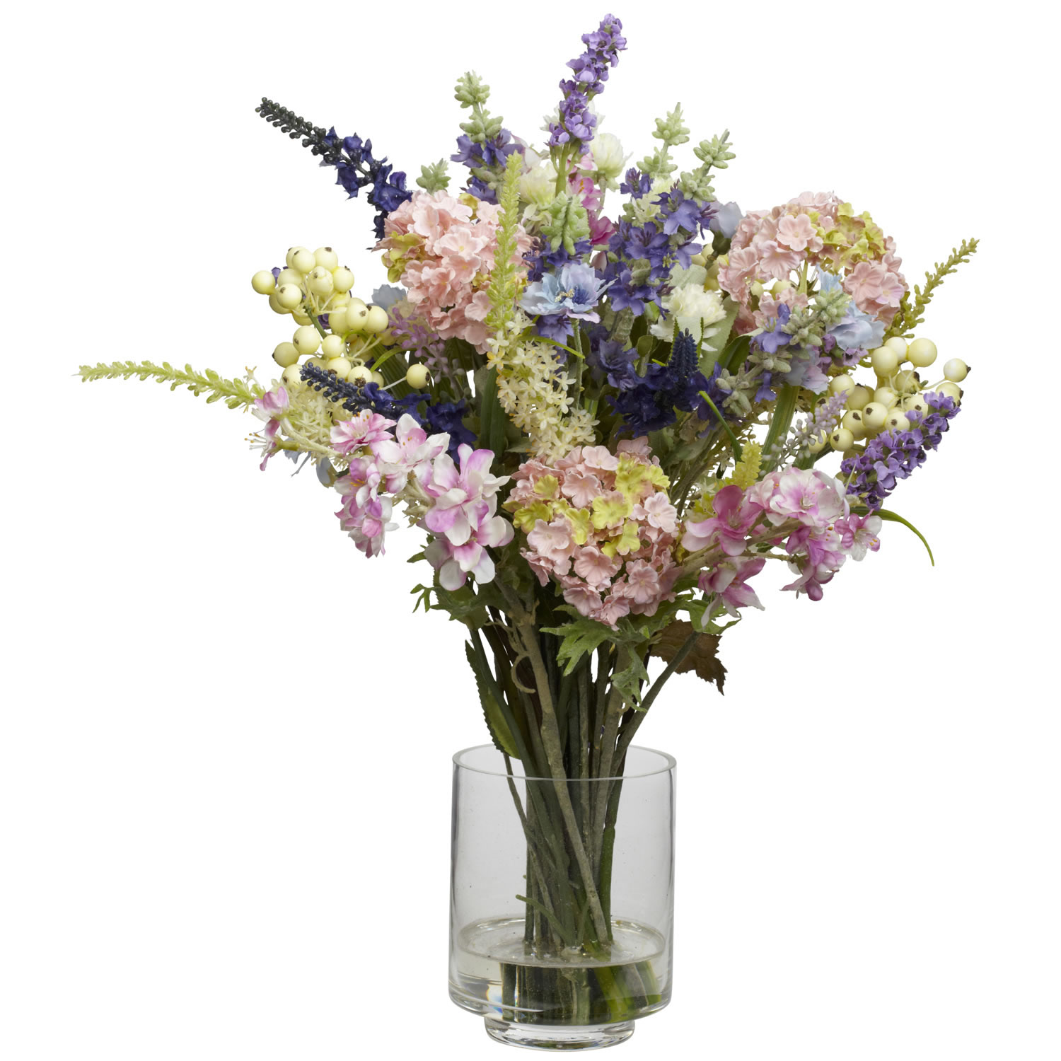 Lavender and hydrangea silk arrangement 4760 closeup image reviewsmspy