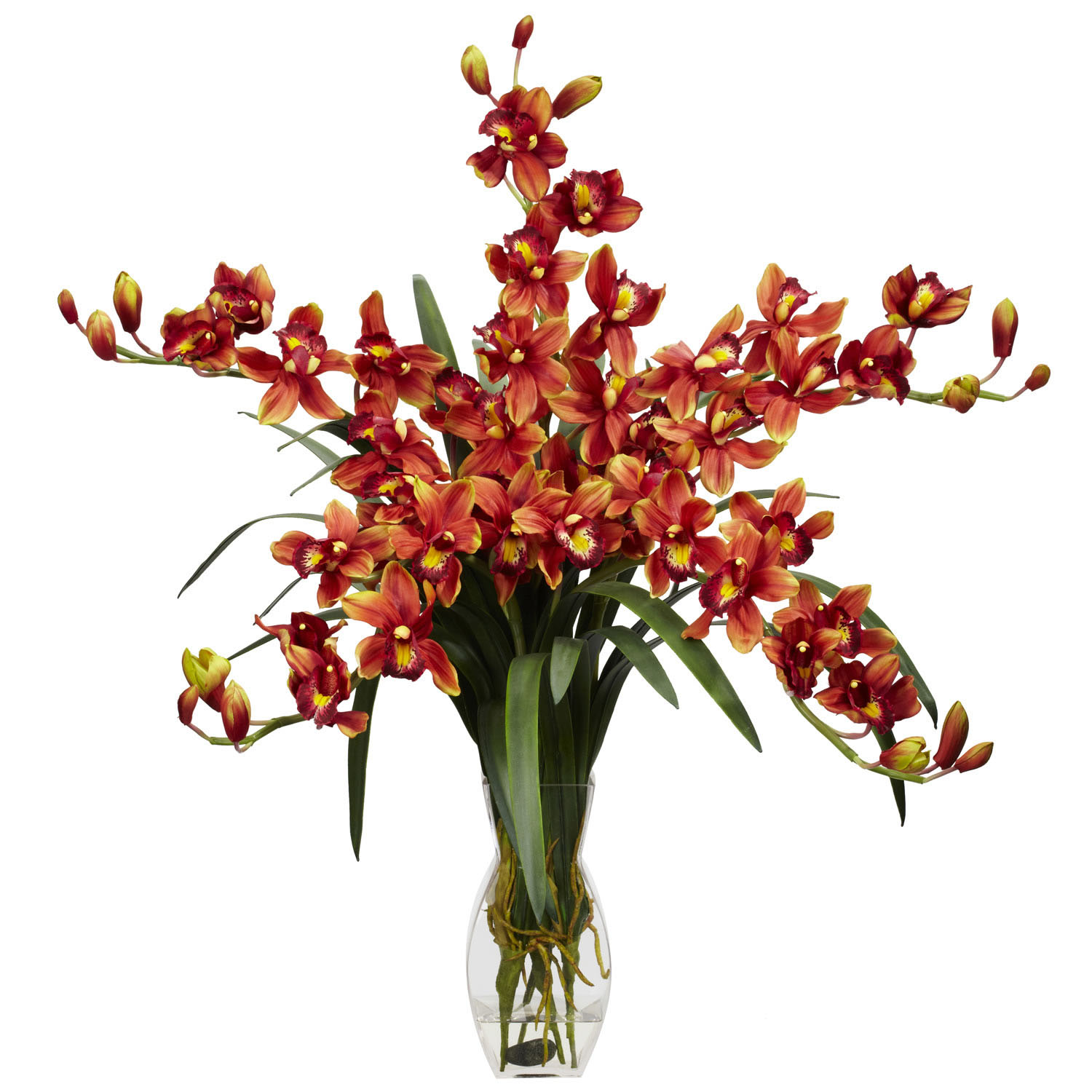 Cymbidium orchid silk flower arrangement 1184 Christmas orchid arrangements
