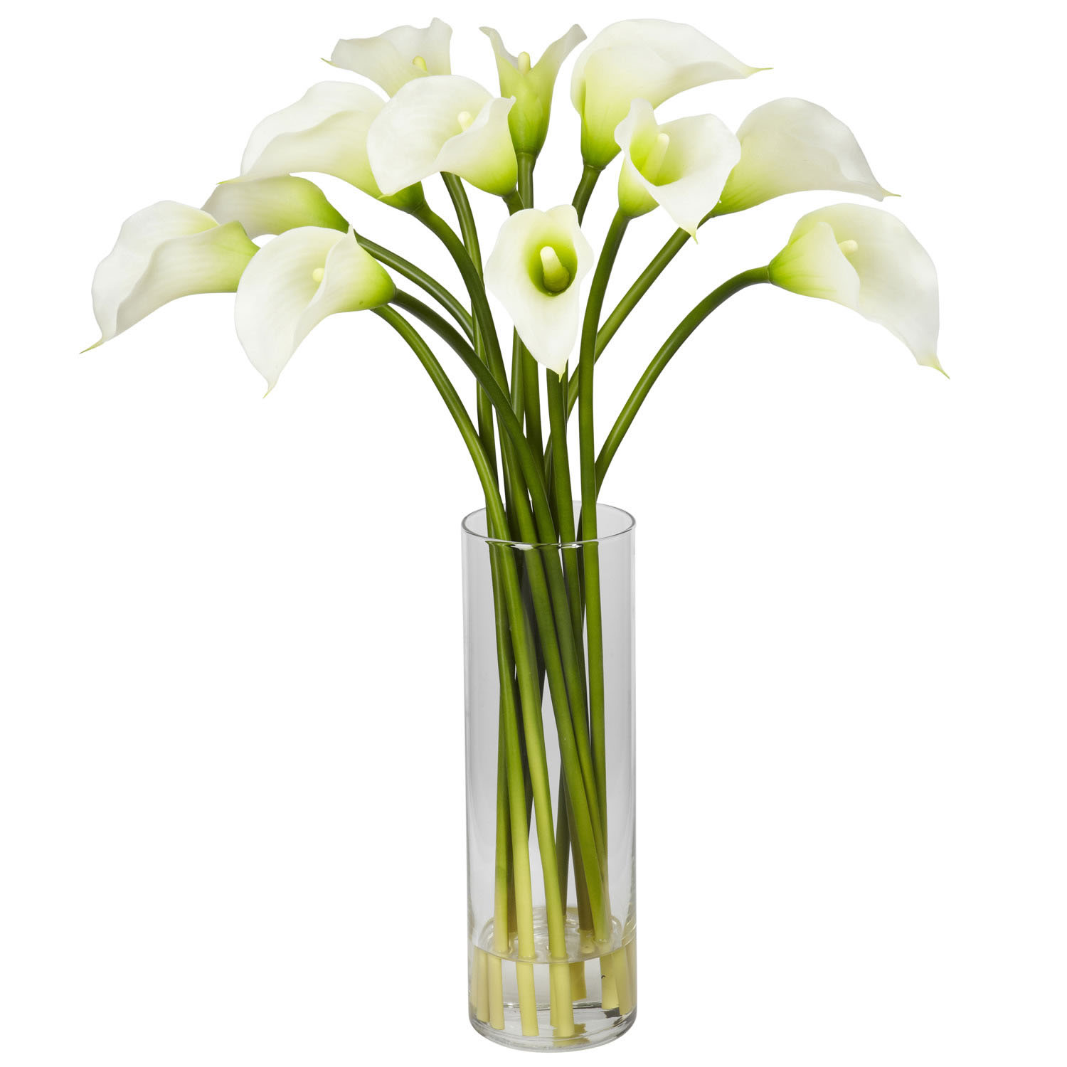 Acrylic water acrylic flowers fake water for vase mini calla lily arrangement in vase mightylinksfo