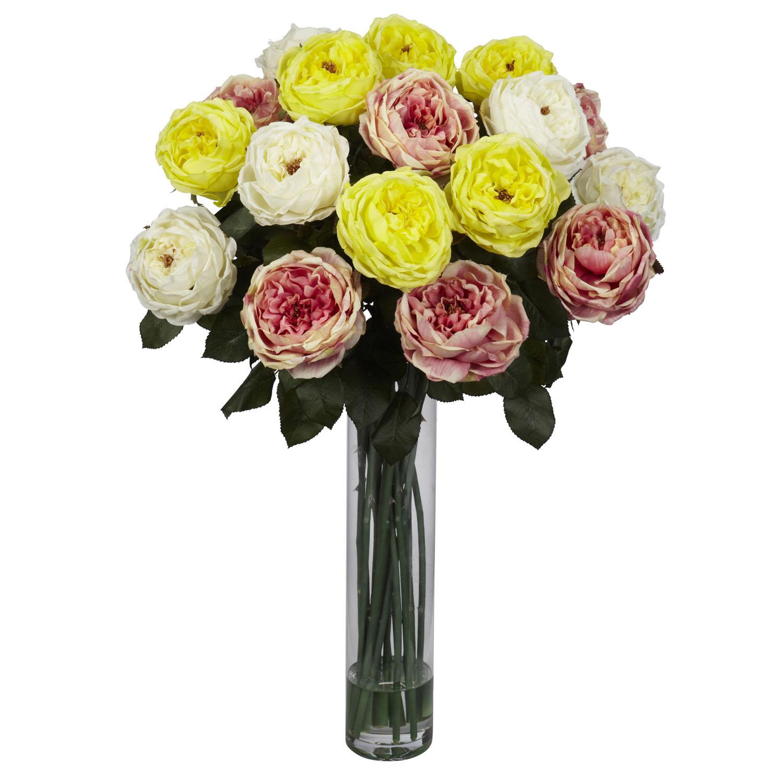 31 inch fancy rose silk flower arrangement in decorative glass 31 inch fancy rose silk flower arrangement in decorative glass vase 1219 reviewsmspy