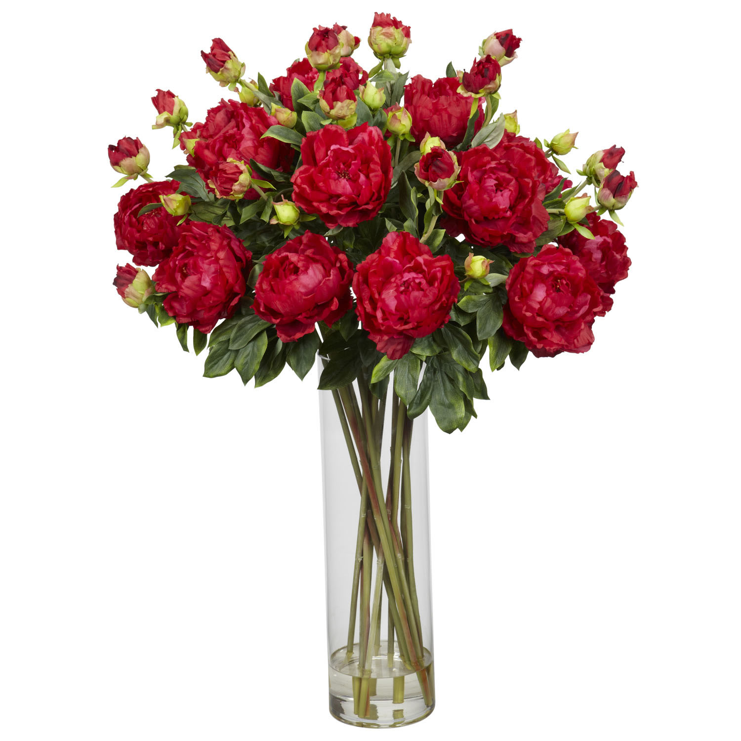 Information about Giant Peony Silk Flower Arrangement Product Photo