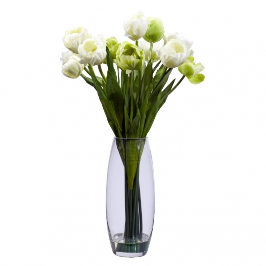Silk Tulips In Vase 4792