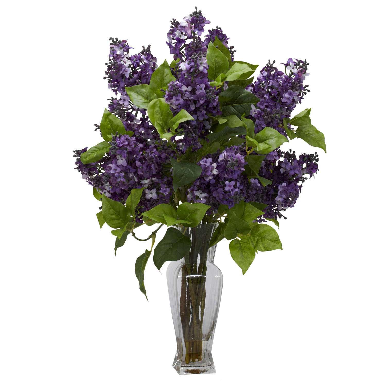 Lilac Silk Flower Arrangement 1256 Nearly Natural